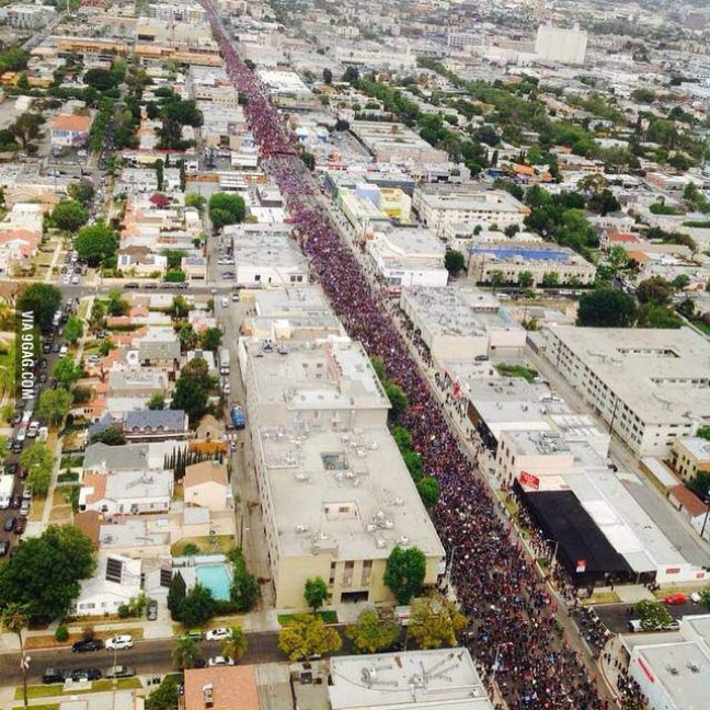 130,000 marching for the recognition of the Armenian Genocide in Los Angeles