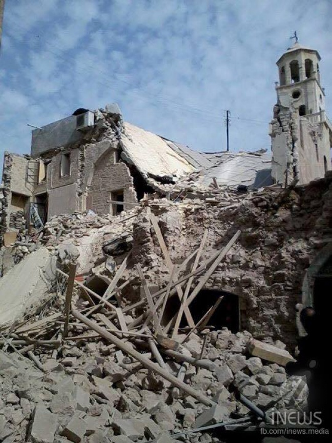 Aleppo's Armenian Church of Forty Martyrs compound destroyed (Photo: iNews)