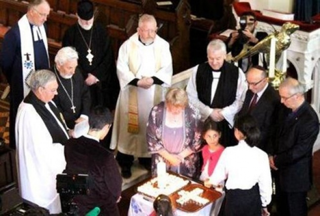 A ceremony in Dublin's Taney Parish Church commemorates the centenary of the Armenian Genocide