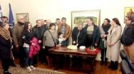 Οι Αρμένιοι της Ξάνθης τήρησαν το έθιμο. Στο Δήμαρχο για τα κάλαντα