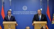 Δήλωση ΥΕΘΑ Πάνου Καμμένου μετά τη συνάντησή του με τον Υπουργό Άμυνας της Αρμενίας Vigen Sargsyan στο ΥΠΕΘΑ