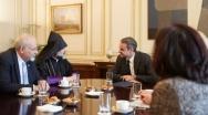 Με τον Μητροπολίτη Ορθοδόξων Αρμενίων & μέλη της Κοινότητας συναντήθηκε ο Κυρ. Μητσοτάκης